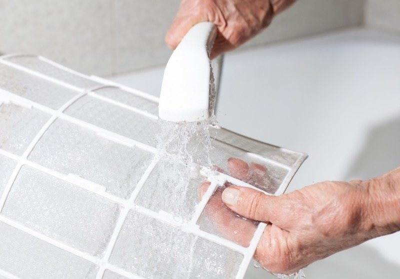 Cleaning an Air Conditioner Filter
