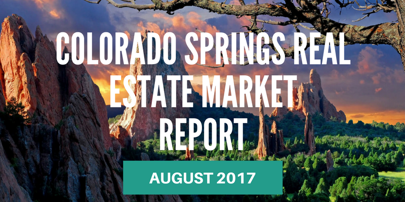Colorado Springs real estate market report - August 2017