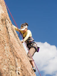 Rock climbing in Colorado Springs